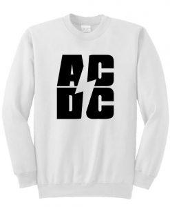 AC DC Font Sweatshirt SU