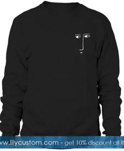 Abstract face Sketch Sweatshirt
