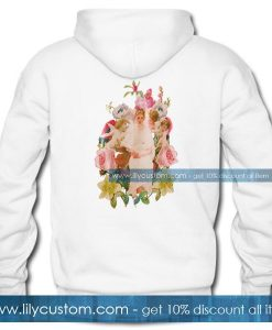 Aesthetic Painting Flower Hoodie Back