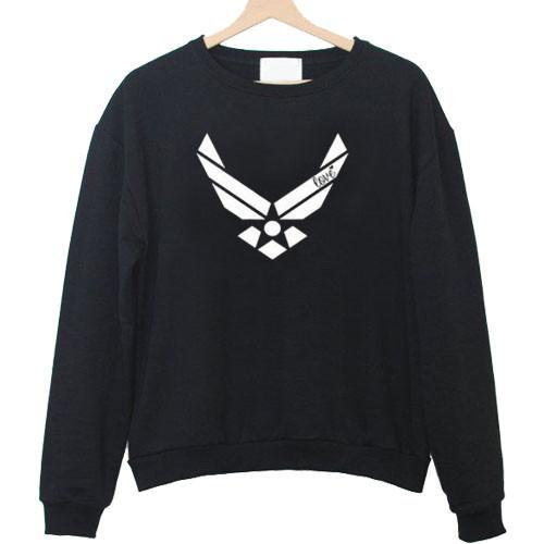 Air force racerback front sweatshirt