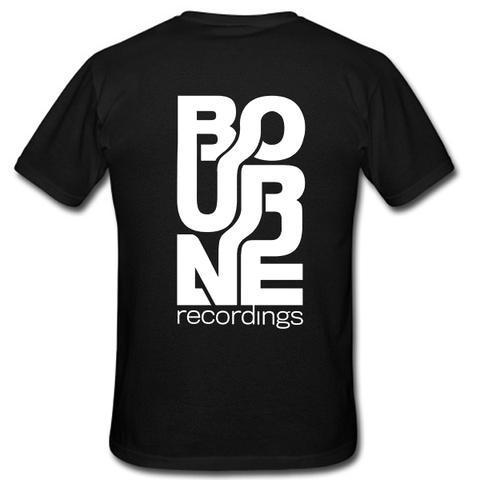 BOURNE RECORDINGS LOGO TSHIRT BACK  SU