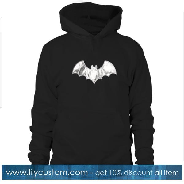 Bat Print Hoodie