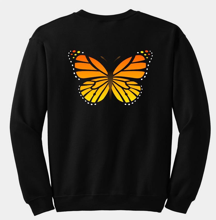 Butterfly sweatshirt back