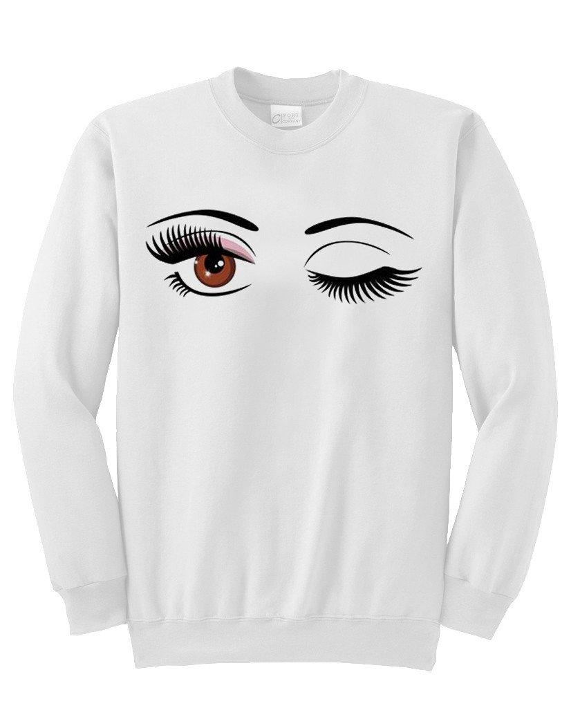 Eyelashes Eyes sweatshirt