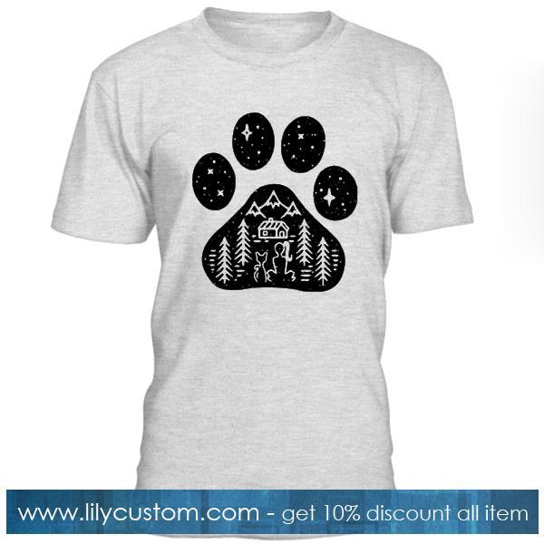Feet Cat Star Night T Shirt