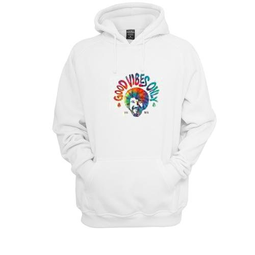Good Vibes Only Bob Ross Hoodie  SU
