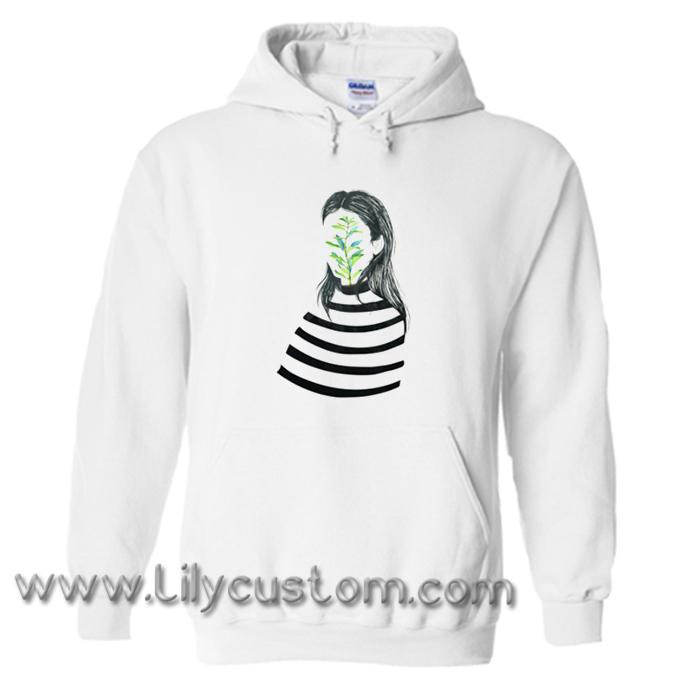 Hand Drawn Girl Illustration Hoodie (LIM)
