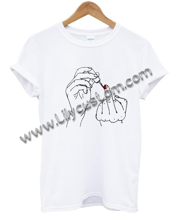 Hand Embroidery T Shirt Ez025