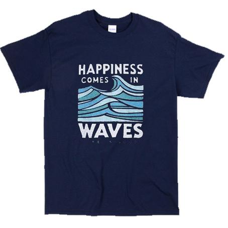 Happiness Comes In Waves T-Shirt    SU