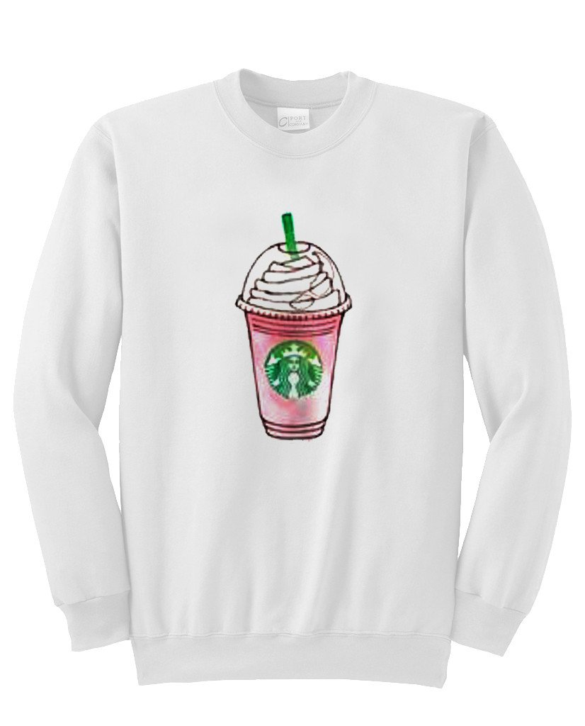 Hoodie with starbucks frappe