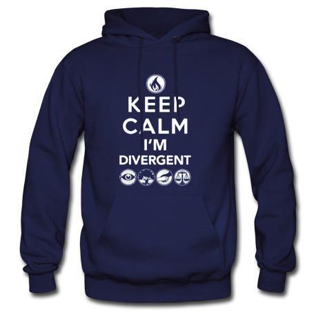 Keep calm Im divergent hoodie