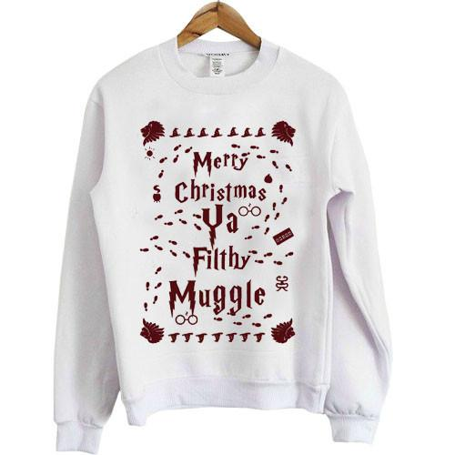 Merry Christmas Ya Filthy Muggle Harry Potter Shirt Ugly Christmas Sweatshirt