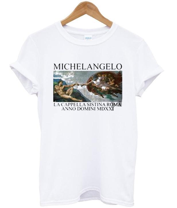 Michelangelo Hand T Shirt Ez025