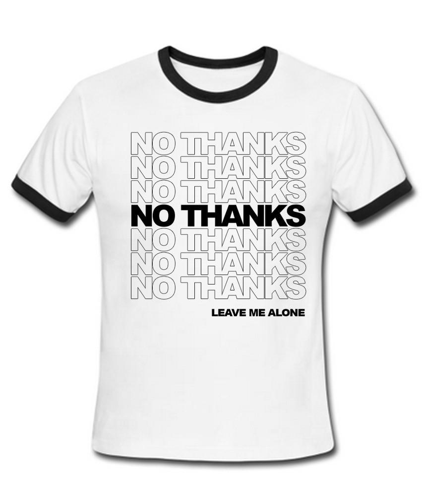 NO THANKS Ringer Shirt