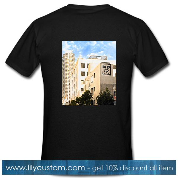 Obey Building Graffiti T shirt Back