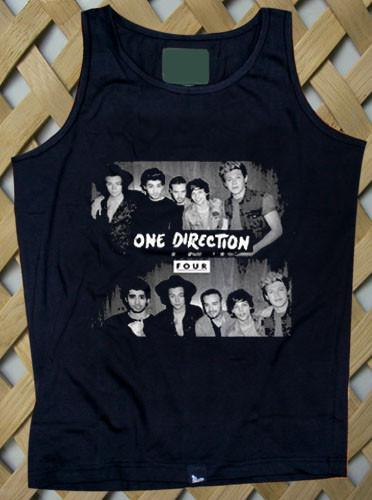One Direction Shirt 1D Four Logo Tank top