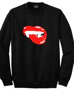 Sparkley vampire lips sweatshirt