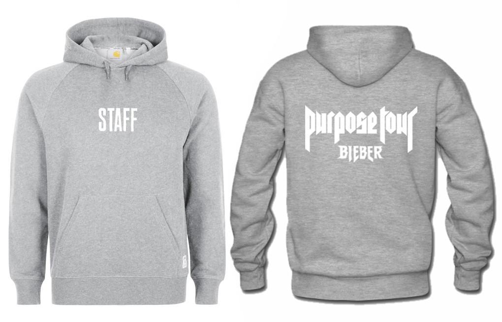 Staff Purpose Tour Bieber hoodie Twoside