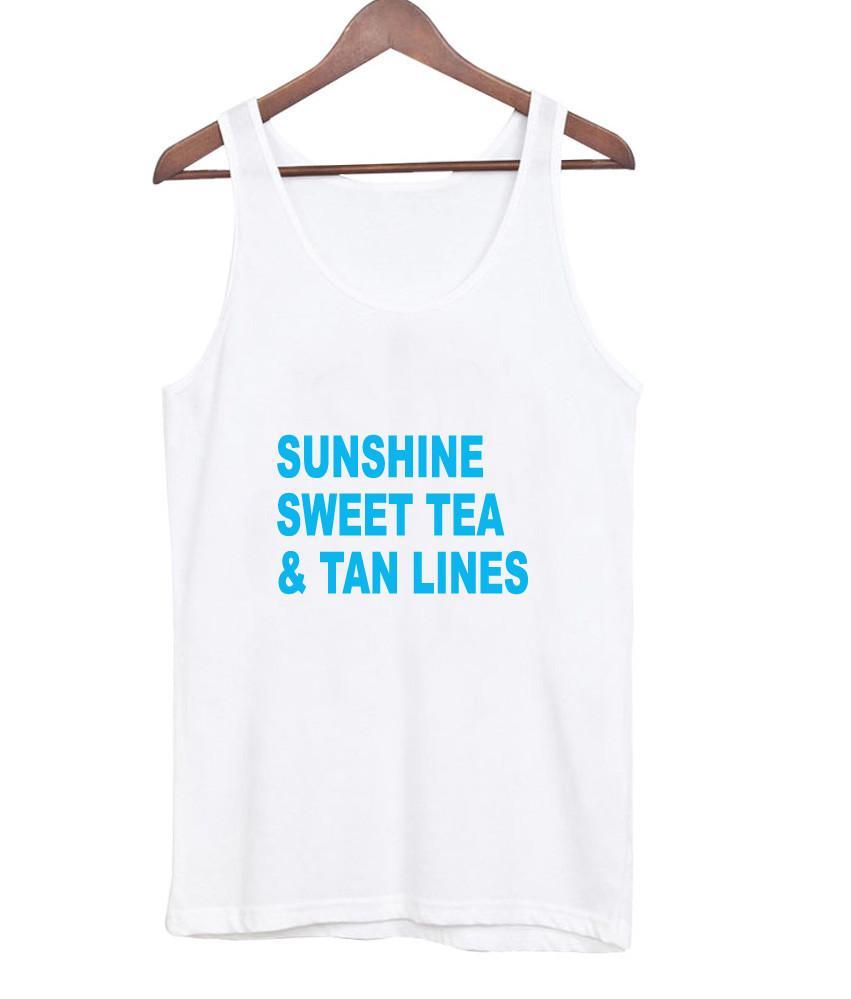 Sunshine Sweet Tea and Tanlines tanktop