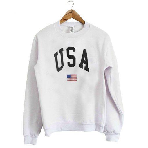 USA Flag Graphic Sweatshirt