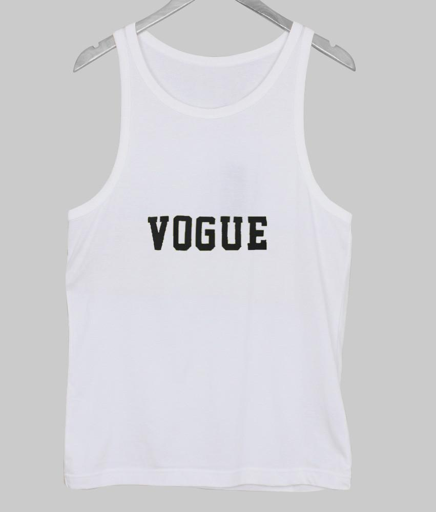 Vogue cropped tank top