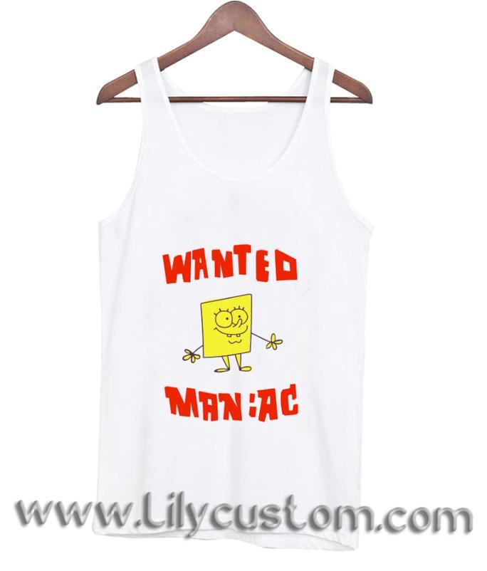 Wanted Maniac SpongeBob TankTop (LIM)