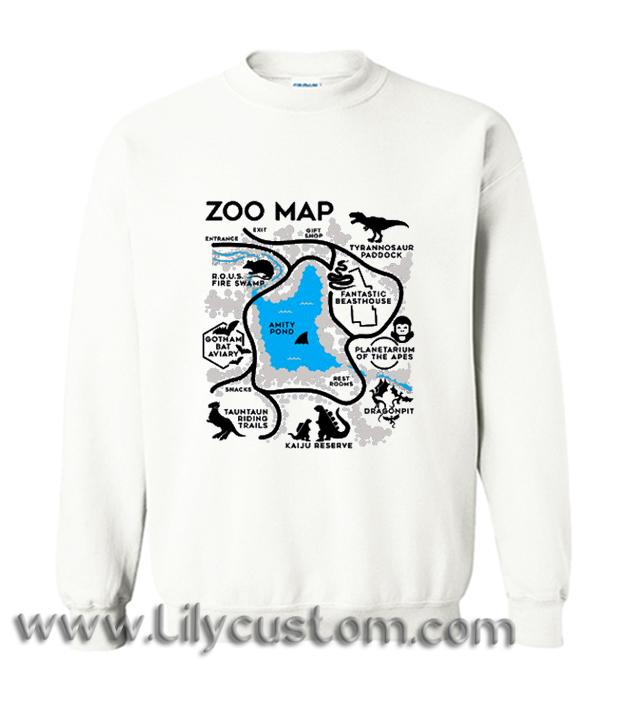 Zoo Map Sweatshirt (LIM)