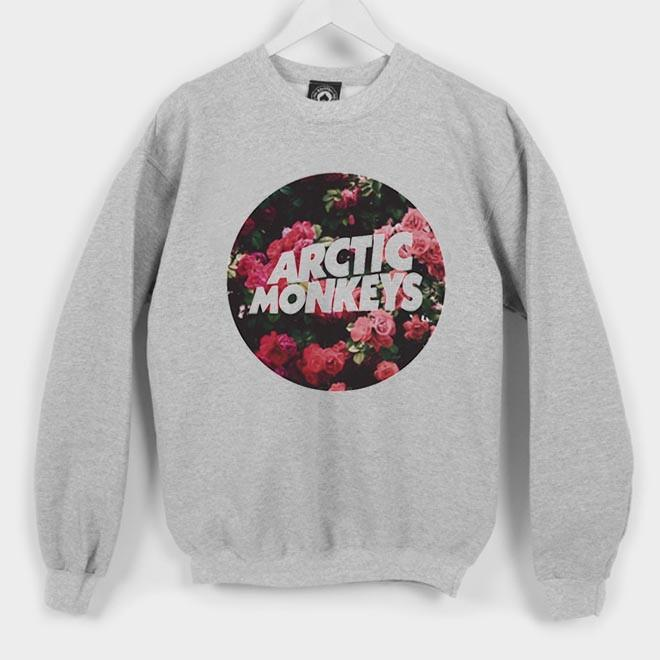 arctic monkey flower sweatshirt