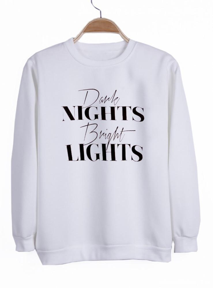 dark night bright light sweatshirt