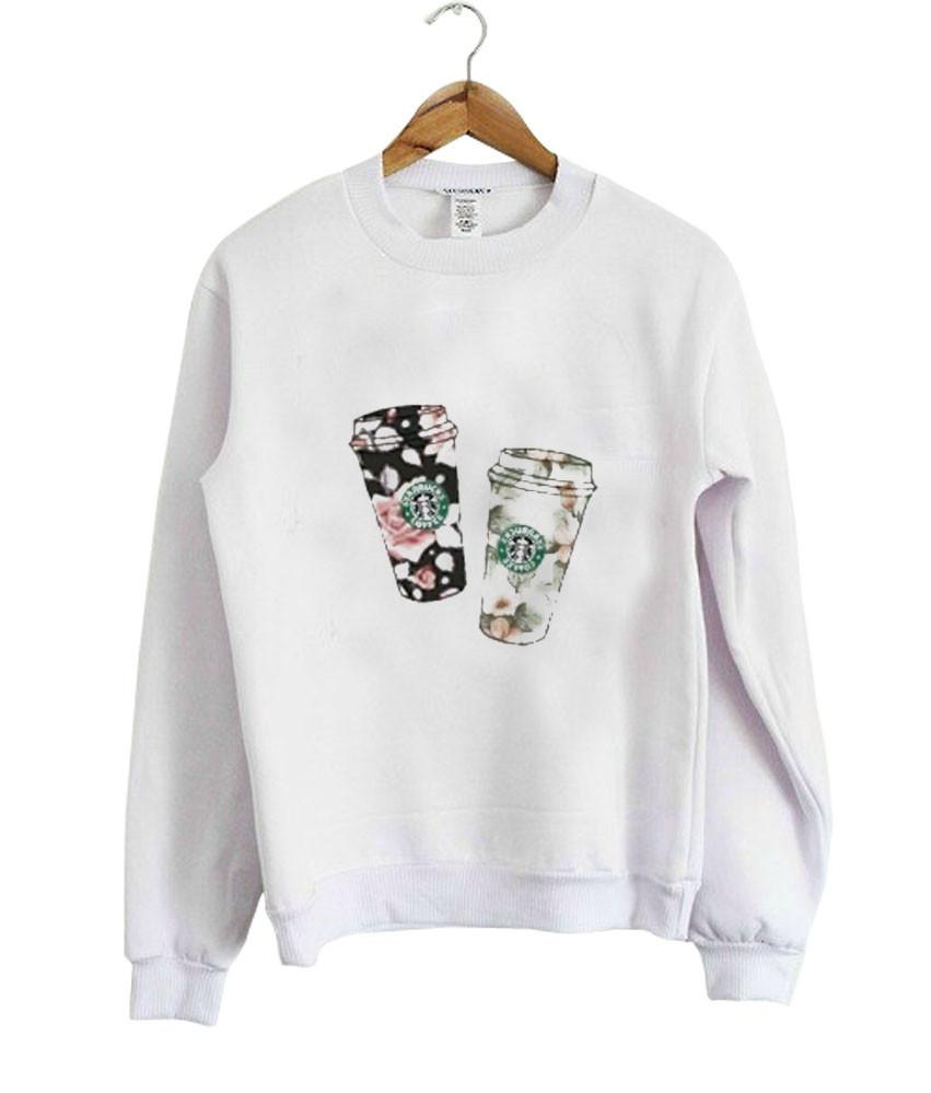 flower starbucks Sweatshirt