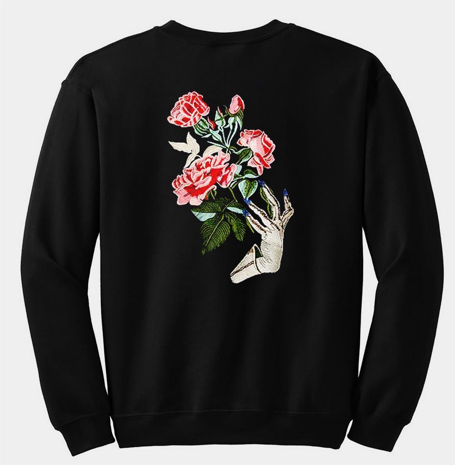 flower sweatshirt back