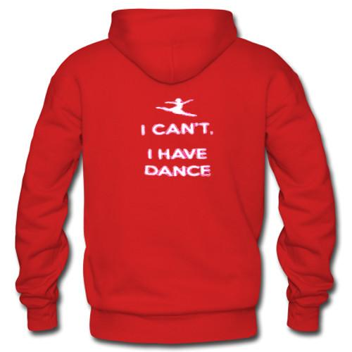 i can't i have dance hoodie back