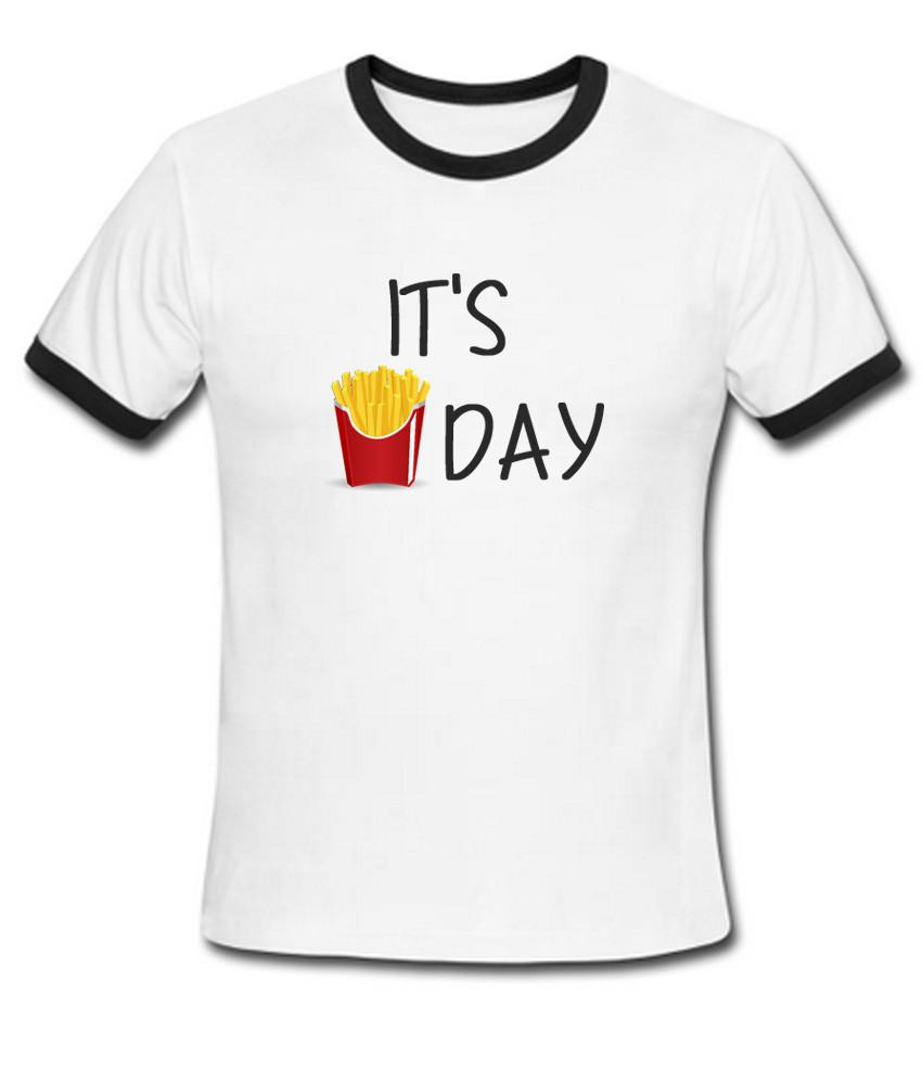 it's day French Fries day ringer t shirt