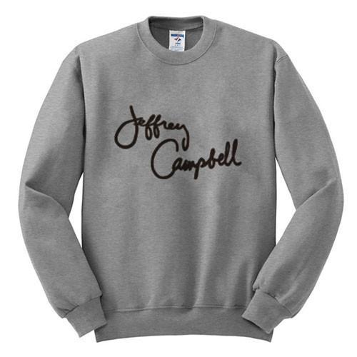 jeffrey campbell sweatshirt grey