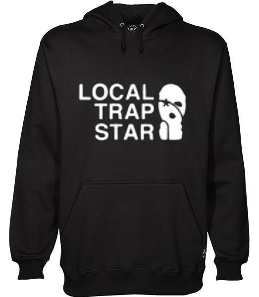 local trap star hoodie