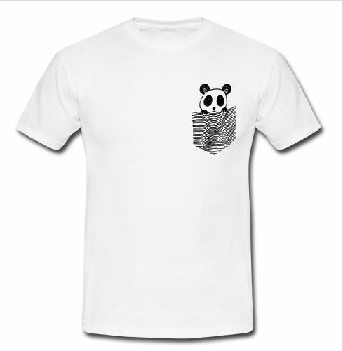 panda pocket t shirt