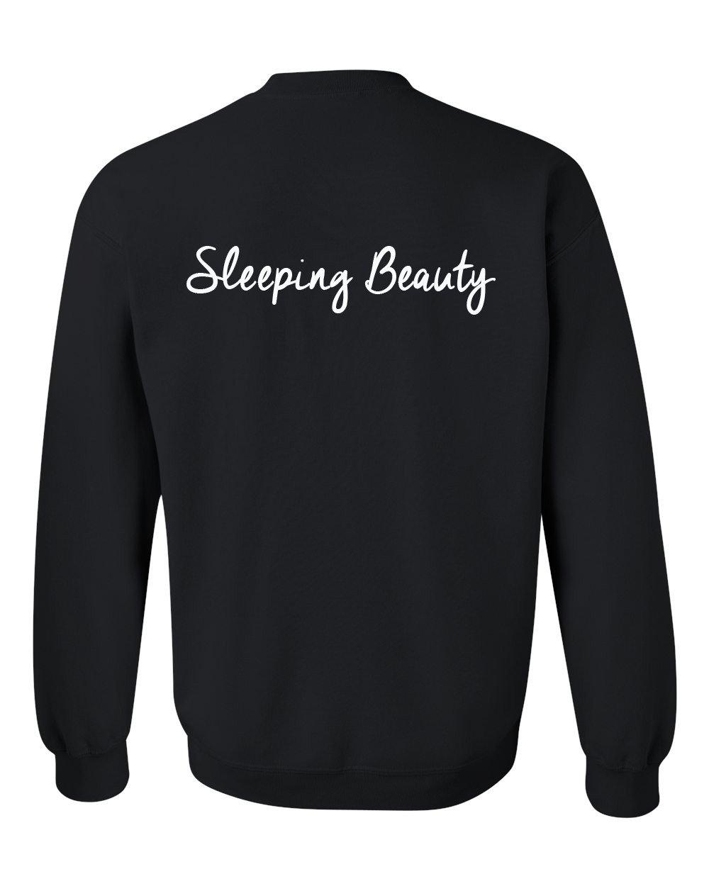 sleeping beauty sweatshirt back