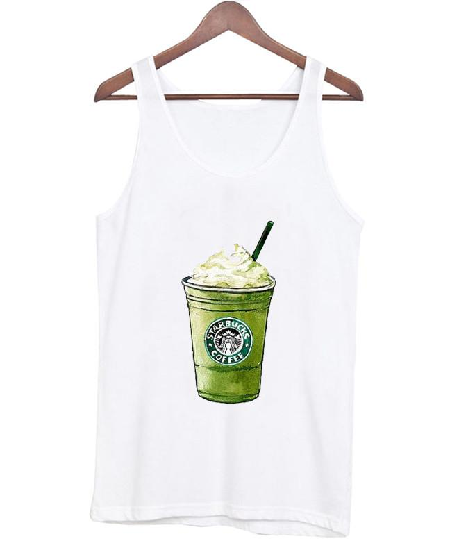 starbuck green tea cream tanktop