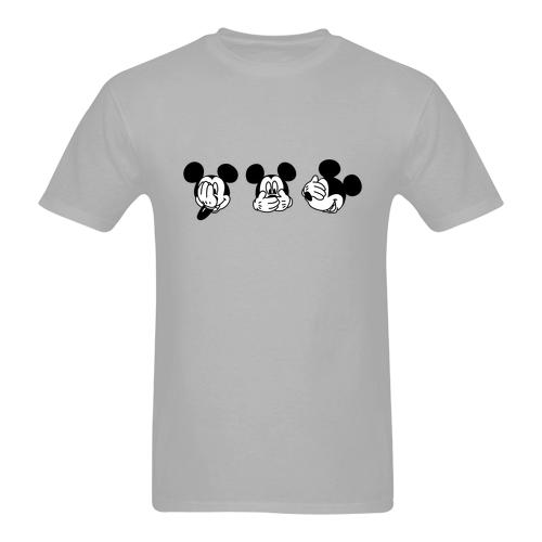 three head mickey mouse   T Shirt  SU