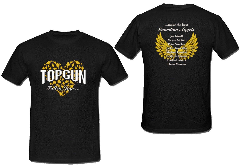 top gun t shirt two side