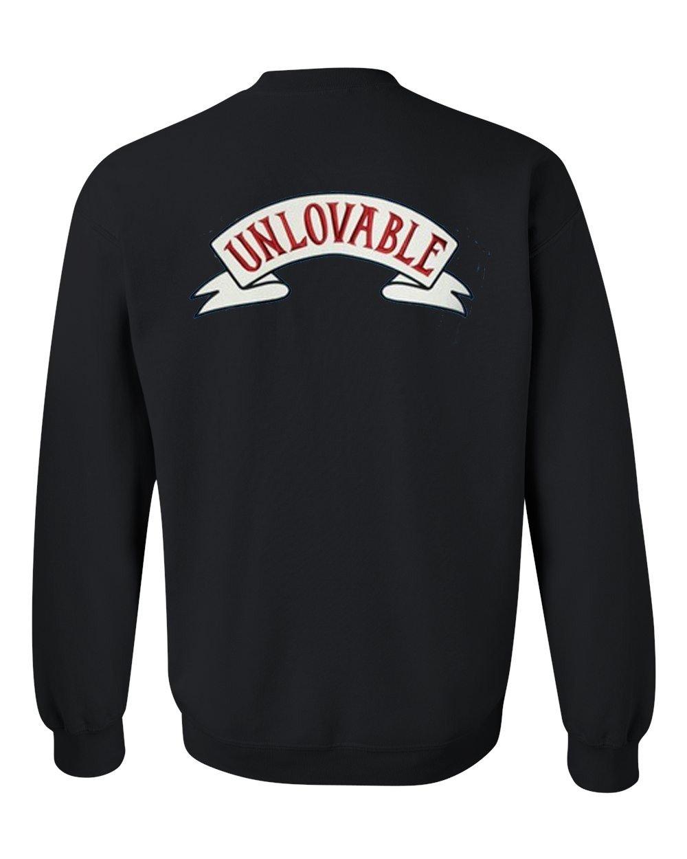 unlovable sweatshirt back
