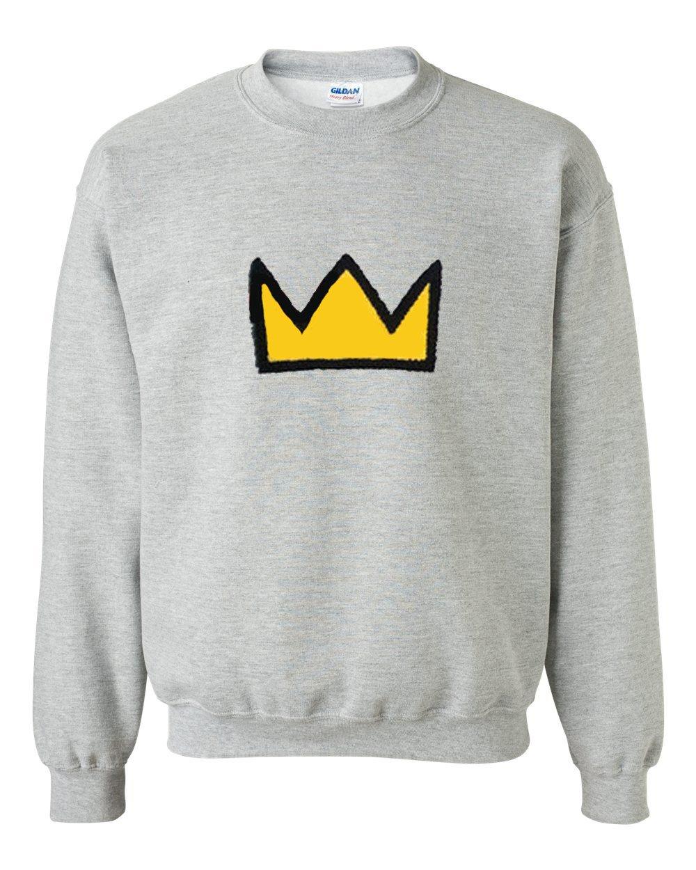 yellow crown sweatshirt