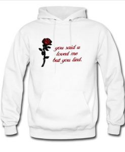 you said you love me but you lied hoodie