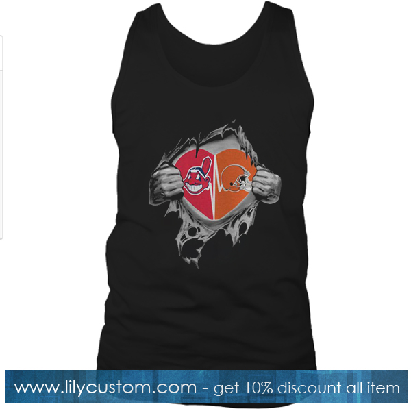 Browns Indians It's In My Heart Inside Me Tank Top SF