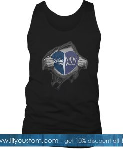 Seahawks Huskies It's In My Heart Inside Me Tank Top SF
