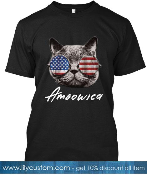 Ameowica Black T-Shirt Front T-SHIRT
