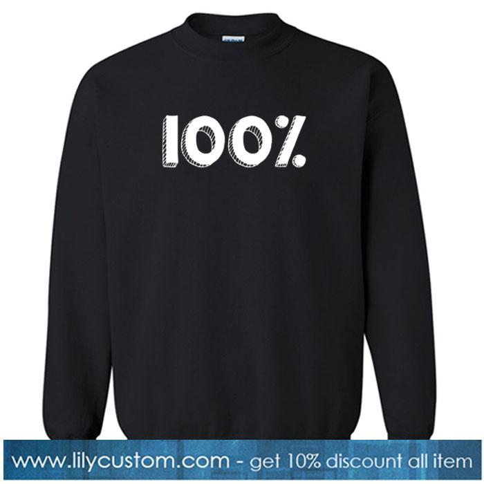 100% SWEATSHIRT SR