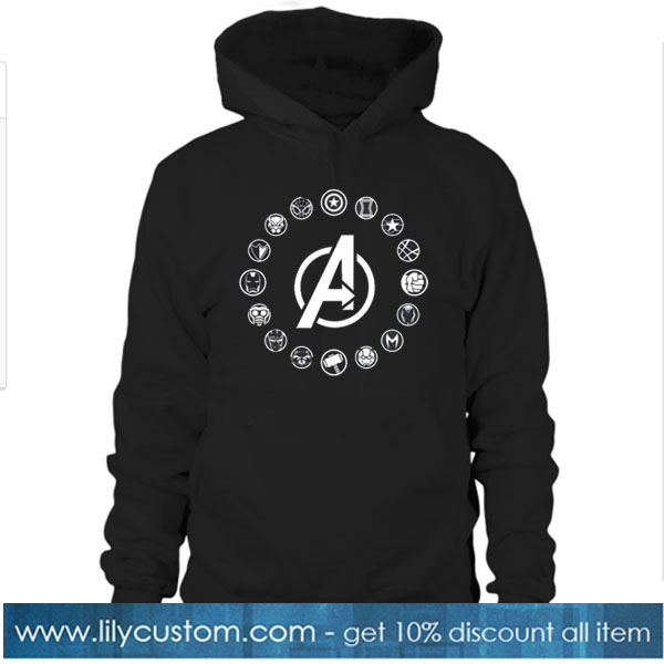 Avengers Members Symbols endgame inspired adults unisex hoodie SN