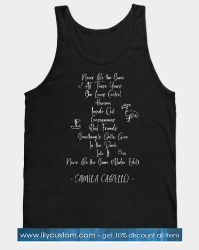 Camila Cabello - Track list Tank Top SN