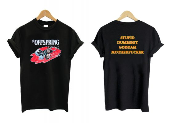 The Offspring Stupid Dumbshit Goddam Motherfucker Luke Hemmings T shirt Twoside SN